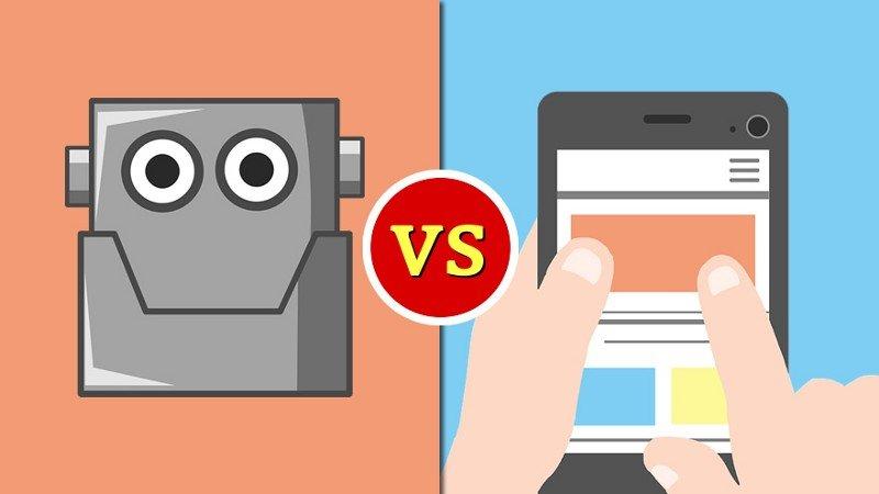 chatbot vs apps