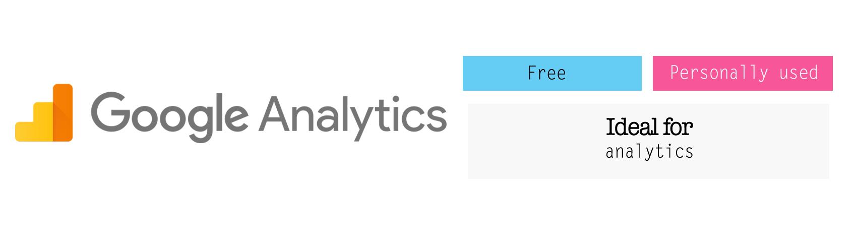 Google Analytics for analytics