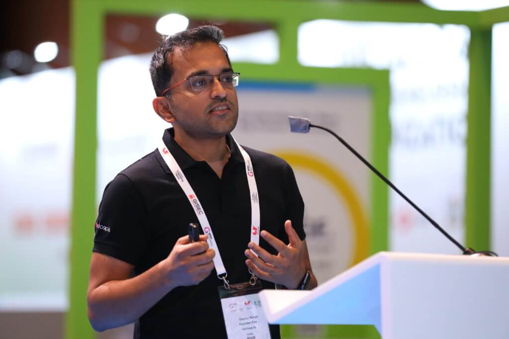 Gaurav speaking at GITEX Future Stars 2020 event