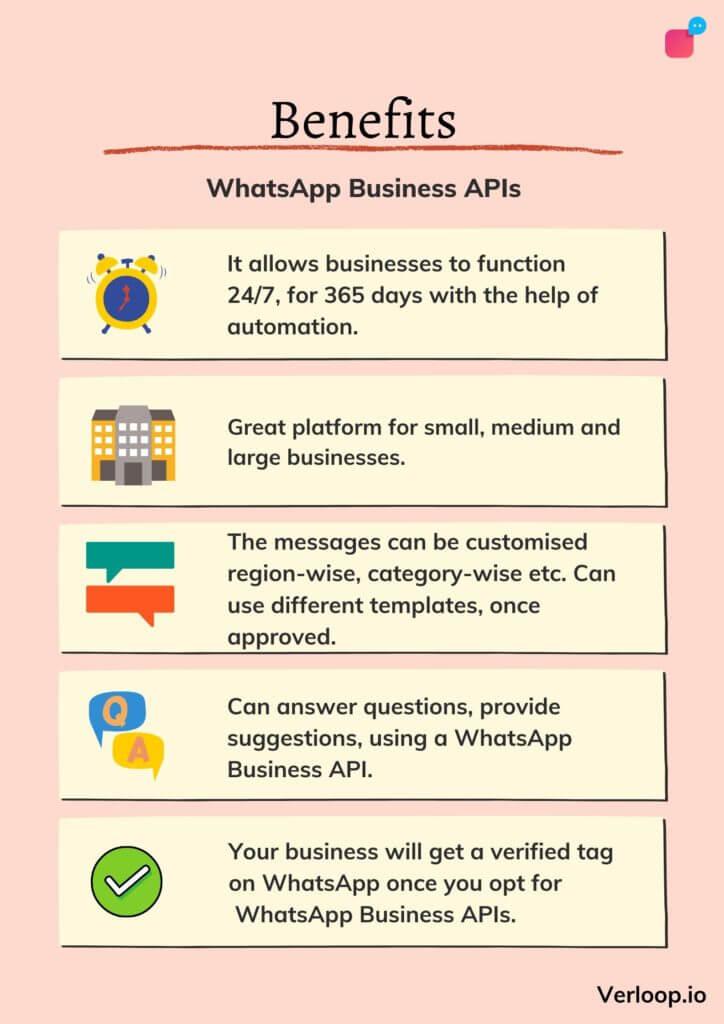 benefits of whatsapp business apis