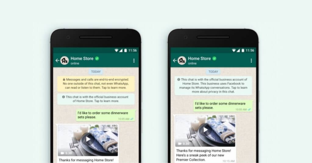 home store whatsapp official business account