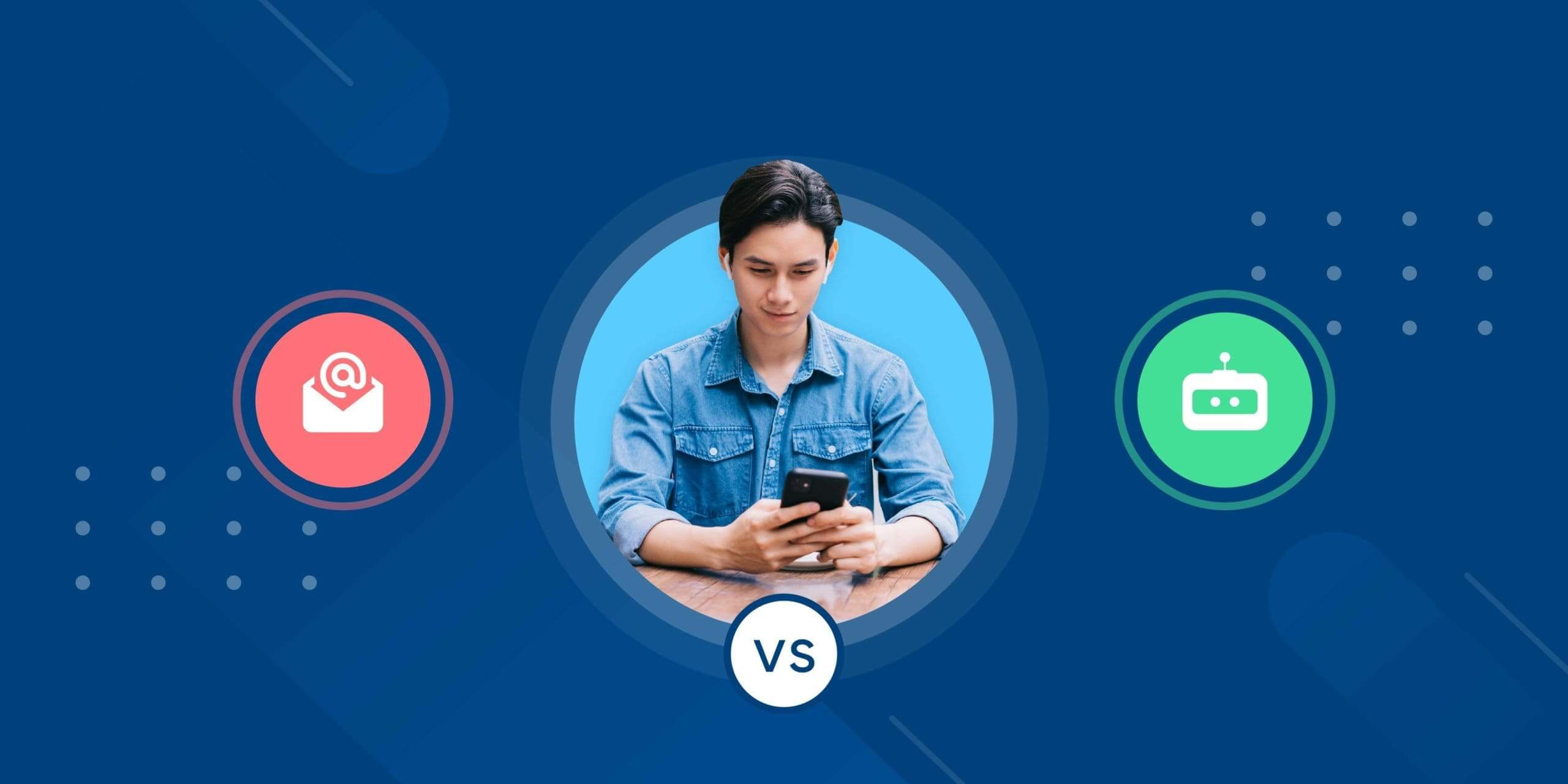 key differences between email and conversational AI