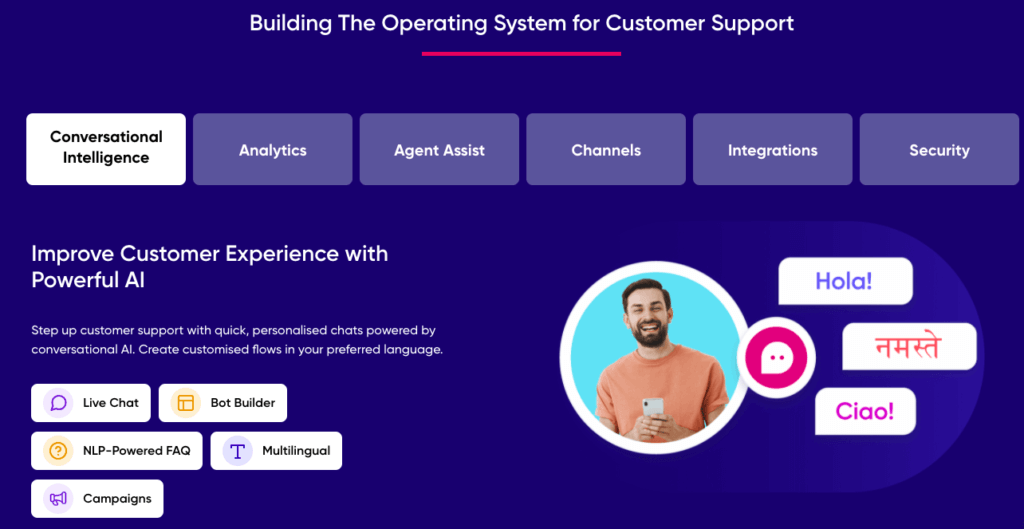 operating system for customer support